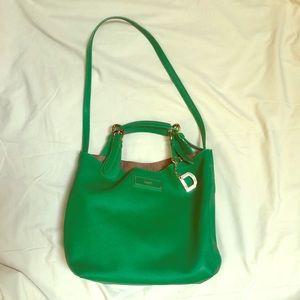 DKNY Green Leather Shoulder Bag